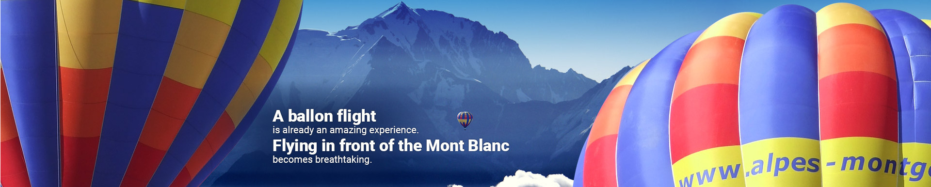 Front of the Mont Blanc